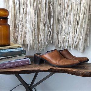Vintage Steve Madden Leather Mules